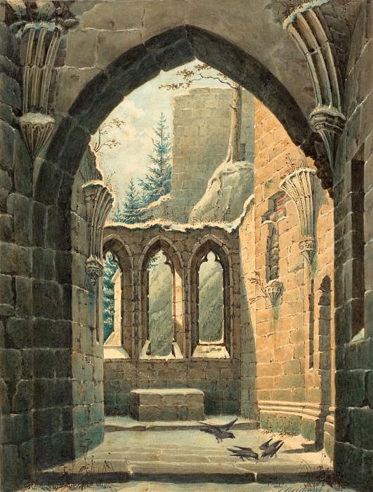 Байхлинг, Карл Генрих - Руины монастыря в Ойбине зимой. Национальная галерея искусств (Вашингтон)