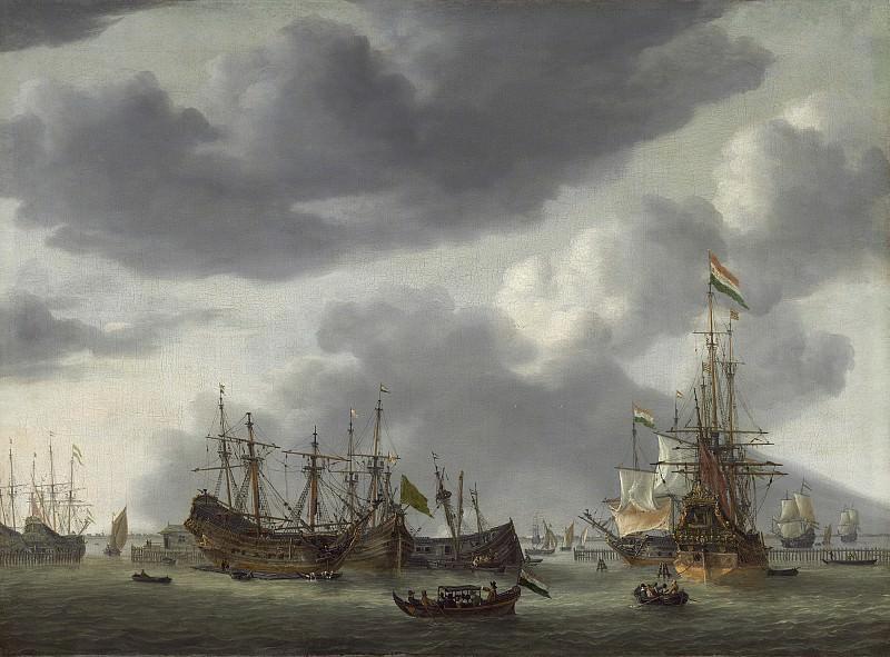 Reinier Nooms - Amsterdam Harbor Scene. National Gallery of Art (Washington)