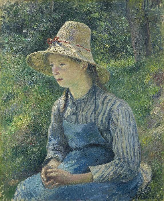 Писсаро, Камиль - Крестьянская девушка в соломенной шляпе. Национальная галерея искусств (Вашингтон)
