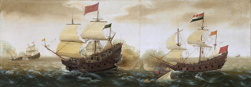 Cornelis Verbeeck - A Naval Encounter between Dutch and Spanish Warships. National Gallery of Art (Washington)