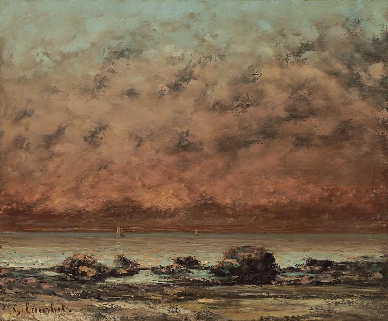 Курбе, Гюстав - Черные скалы в Трувиле. Национальная галерея искусств (Вашингтон)