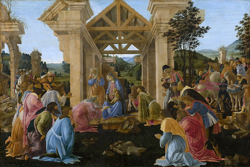 Sandro Botticelli - The Adoration of the Magi. National Gallery of Art (Washington)