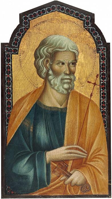 Follower of Cimabue - Christ between Saint Peter and Saint James Major. National Gallery of Art (Washington) (left panel)
