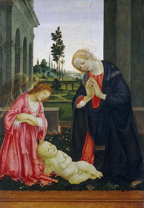 Липпи, Филиппино - Поклонение младенцу. Национальная галерея искусств (Вашингтон)