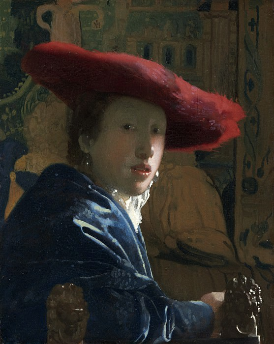 Girl with the Red Hat. Johannes Vermeer (attr.)