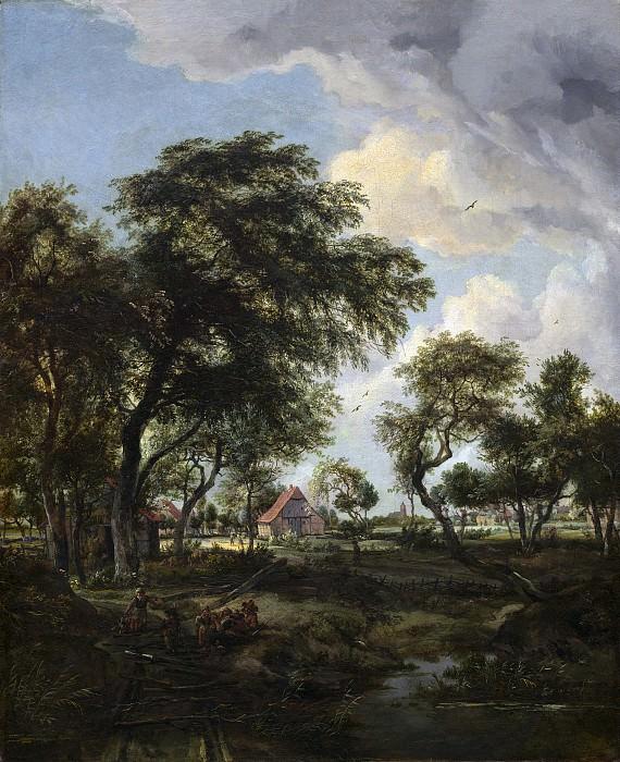 Хоббема, Мейндерт - Деревня в солнечном свету. Национальная галерея искусств (Вашингтон)