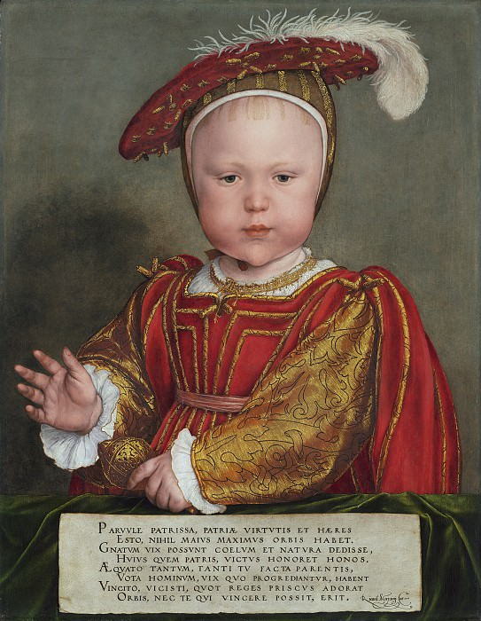 Hans Holbein the Younger - Edward VI as a Child. National Gallery of Art (Washington)