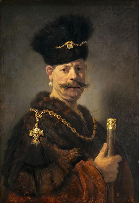 A Polish Nobleman. Rembrandt Harmenszoon Van Rijn