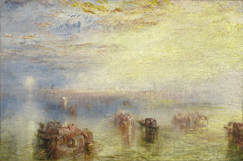 Joseph Mallord William Turner - Approach to Venice. National Gallery of Art (Washington)