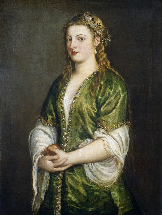 Titian - Portrait of a Lady. National Gallery of Art (Washington)
