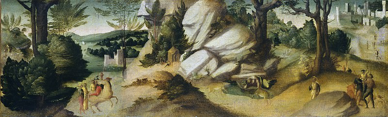 Giovanni Larciani (Master of the Kress Landscapes) - Scenes from a Legend. National Gallery of Art (Washington)