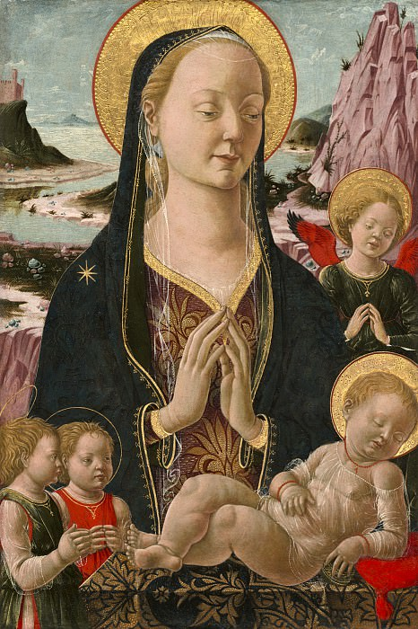Ferrarese 15th Century - Madonna and Child with Angels. National Gallery of Art (Washington)