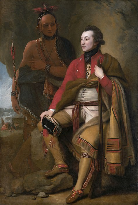 Уэст, Бенджамин - Полковник Гай Джонсон и Karonghyontye (капитан Дэвид Хилл). Национальная галерея искусств (Вашингтон)