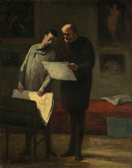 Honore Daumier - Advice to a Young Artist. National Gallery of Art (Washington)