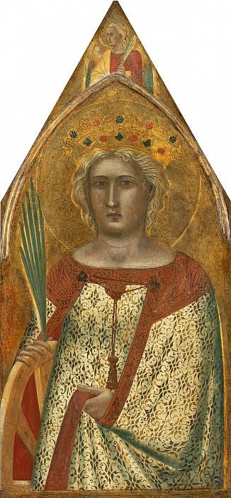 Pietro Lorenzetti - Madonna and Child with Saint Mary Magdalene and Saint Catherine. National Gallery of Art (Washington) (right panel)