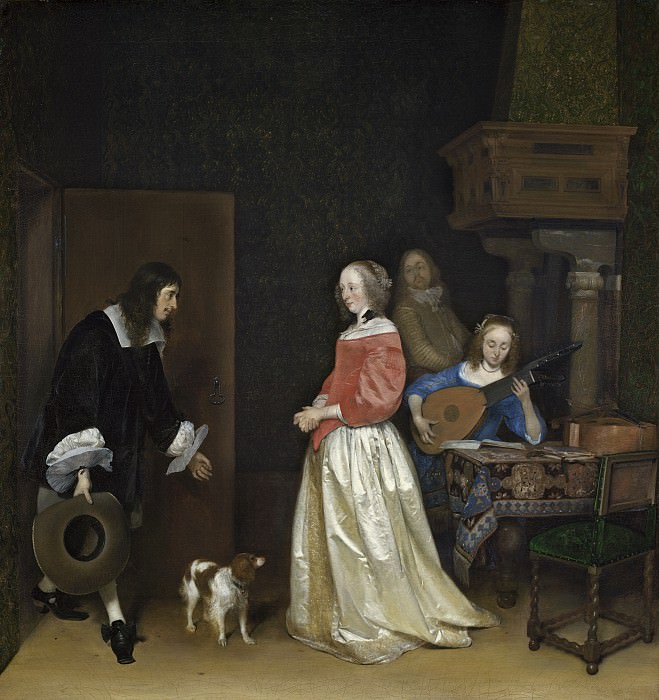 Gerard ter Borch the Younger - The Suitor's Visit. National Gallery of Art (Washington)