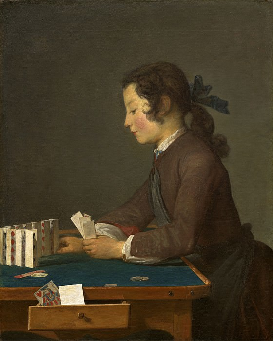 Jean Simeon Chardin - The House of Cards. National Gallery of Art (Washington)