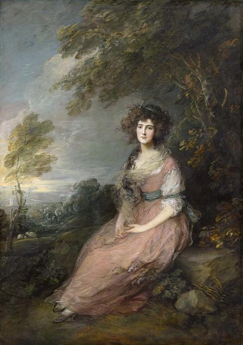Thomas Gainsborough - Mrs. Richard Brinsley Sheridan. National Gallery of Art (Washington)