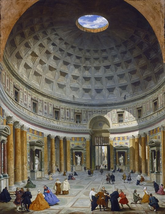 Giovanni Paolo Panini - Interior of the Pantheon, Rome. National Gallery of Art (Washington)
