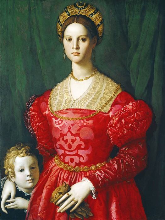 Agnolo Bronzino - A Young Woman and Her Little Boy. National Gallery of Art (Washington)
