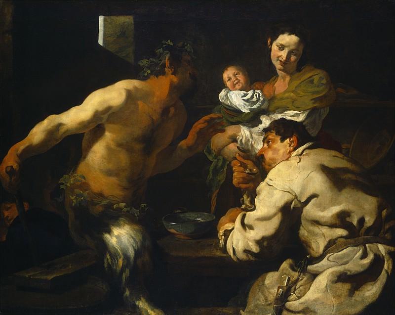 Johann Liss - The Satyr and the Peasant. National Gallery of Art (Washington)