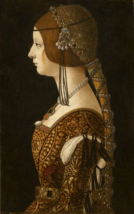 Ambrogio de Predis - Bianca Maria Sforza. National Gallery of Art (Washington)