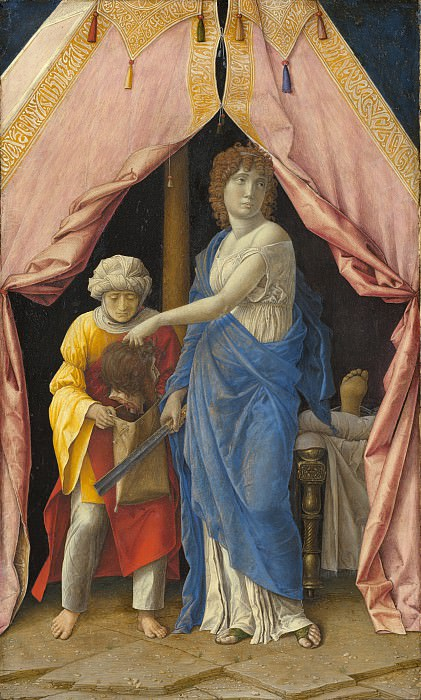 Andrea Mantegna or Follower (Possibly Giulio Campagnola) - Judith with the Head of Holofernes. National Gallery of Art (Washington)