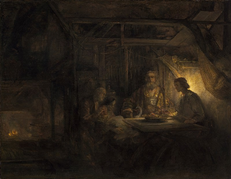 Philemon and Baucis (attr). Rembrandt Harmenszoon Van Rijn