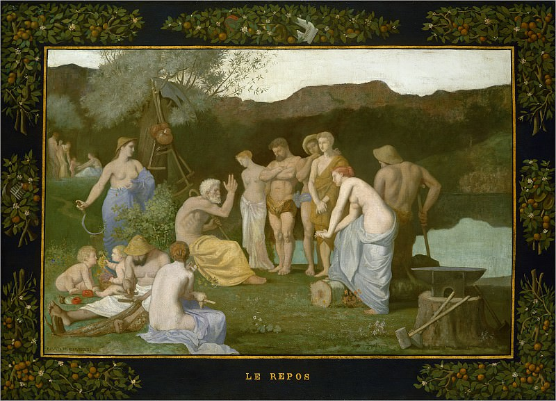 Pierre Puvis de Chavannes - Rest. National Gallery of Art (Washington)