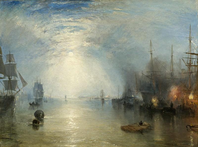 Тёрнер, Джозеф Мэллорд Уильям - Килмены, грузящие уголь ночью. Национальная галерея искусств (Вашингтон)