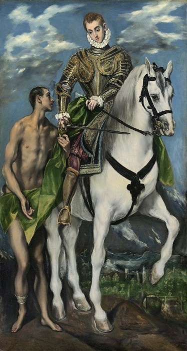 Saint Martin and the Beggar. El Greco