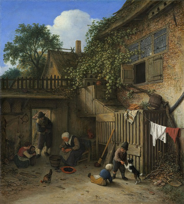 Adriaen van Ostade - The Cottage Dooryard. National Gallery of Art (Washington)
