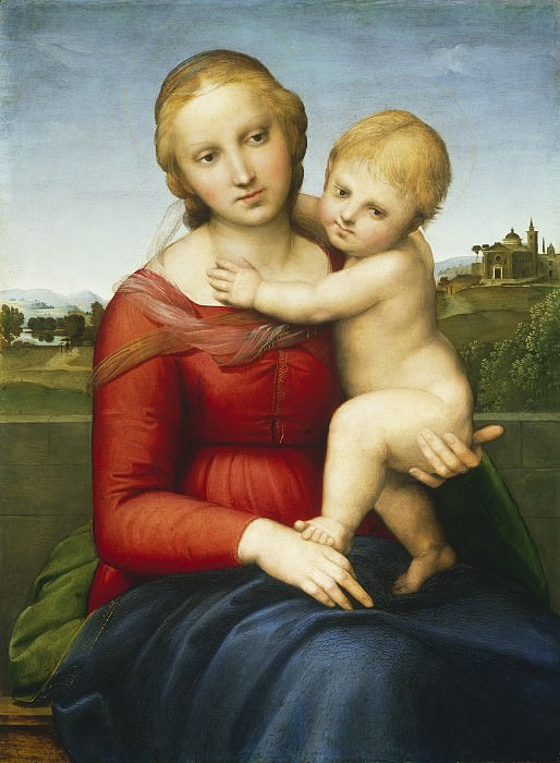 Raphael - The Small Cowper Madonna. National Gallery of Art (Washington)
