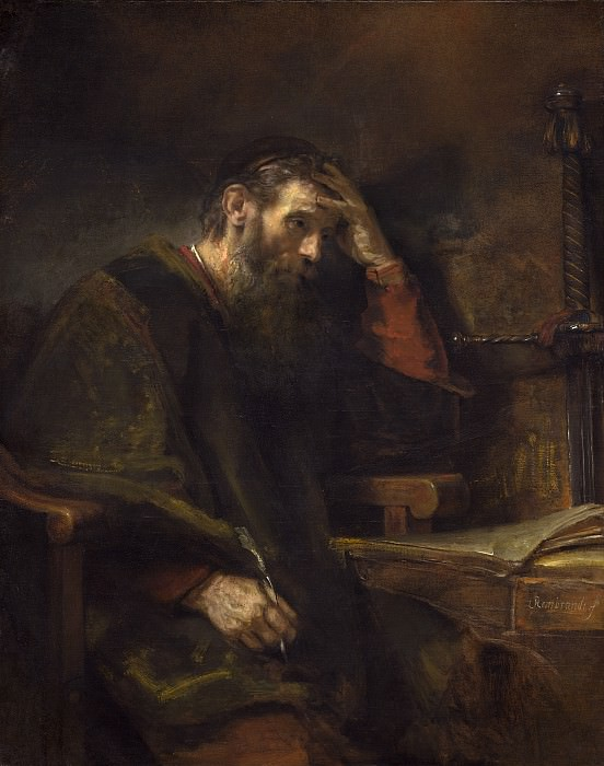 Rembrandt van Rijn (and Workshop) - The Apostle Paul. National Gallery of Art (Washington)
