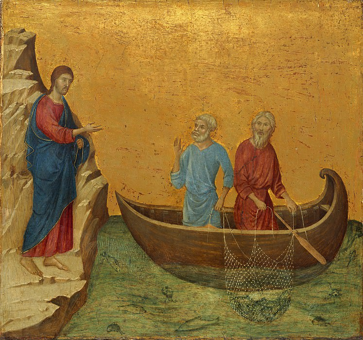 Duccio di Buoninsegna - The Calling of the Apostles Peter and Andrew. National Gallery of Art (Washington)