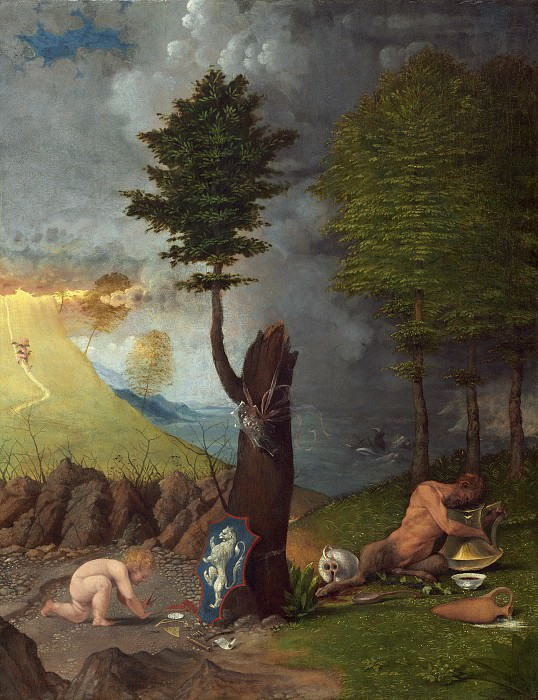 Lorenzo Lotto - Allegory of Virtue and Vice. National Gallery of Art (Washington)