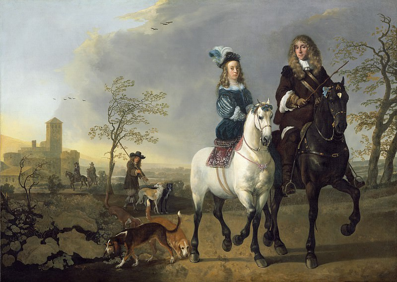 Aelbert Cuyp - Lady and Gentleman on Horseback. National Gallery of Art (Washington)