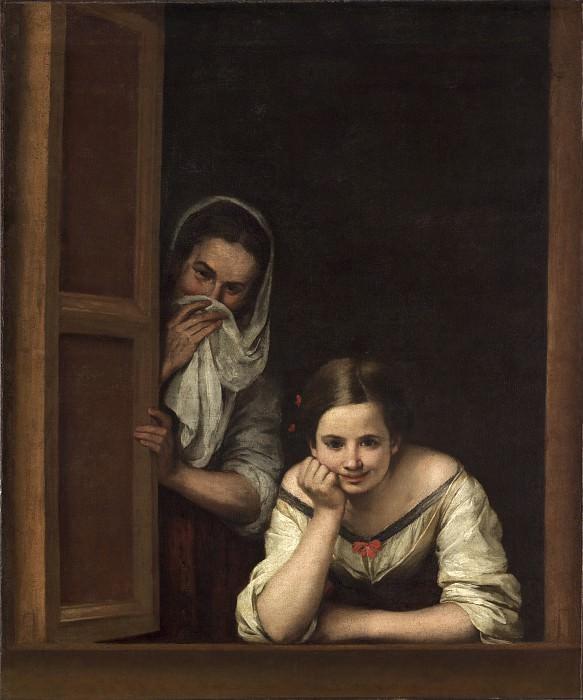 Bartolome Esteban Murillo - Two Women at a Window. National Gallery of Art (Washington)