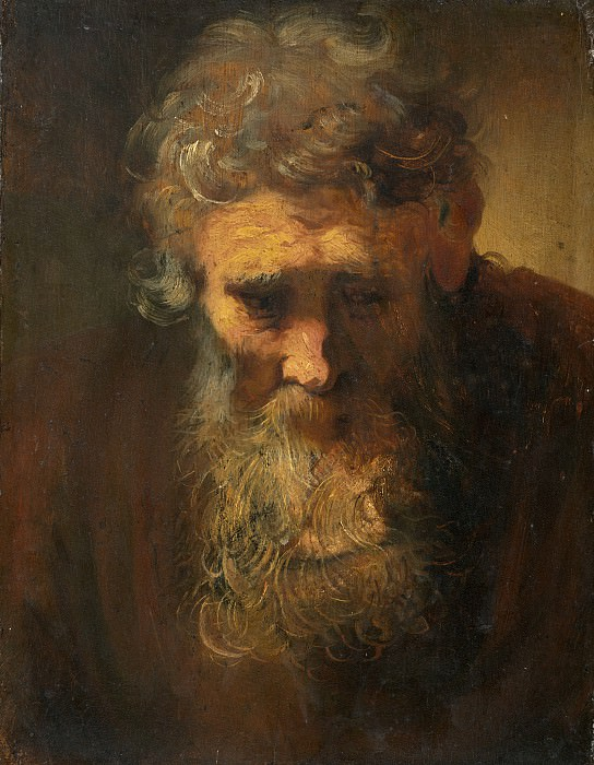 Follower of Rembrandt van Rijn - Study of an Old Man. National Gallery of Art (Washington)