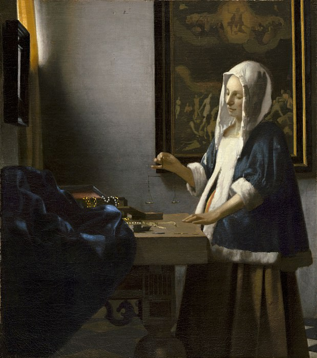 Johannes Vermeer - Woman Holding a Balance. National Gallery of Art (Washington)