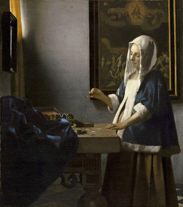 Вермеер, Ян - Женщина с весами. Национальная галерея искусств (Вашингтон)