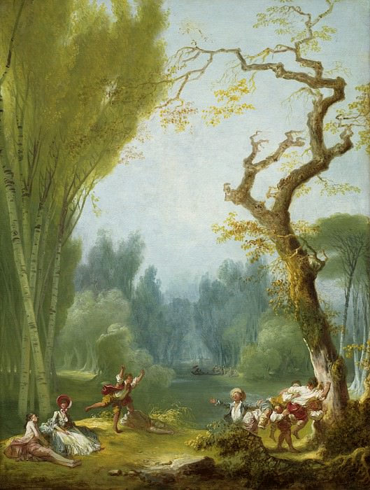 A Game of Horse and Rider. Jean Honore Fragonard