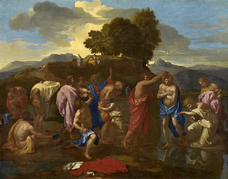 Nicolas Poussin - The Baptism of Christ. National Gallery of Art (Washington)