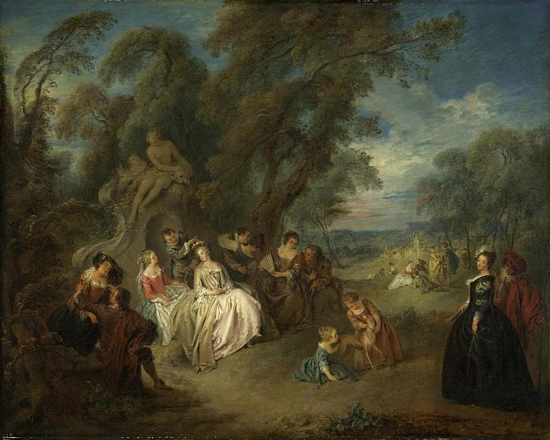 Jean-Baptiste Joseph Pater - Fete Champetre. National Gallery of Art (Washington)