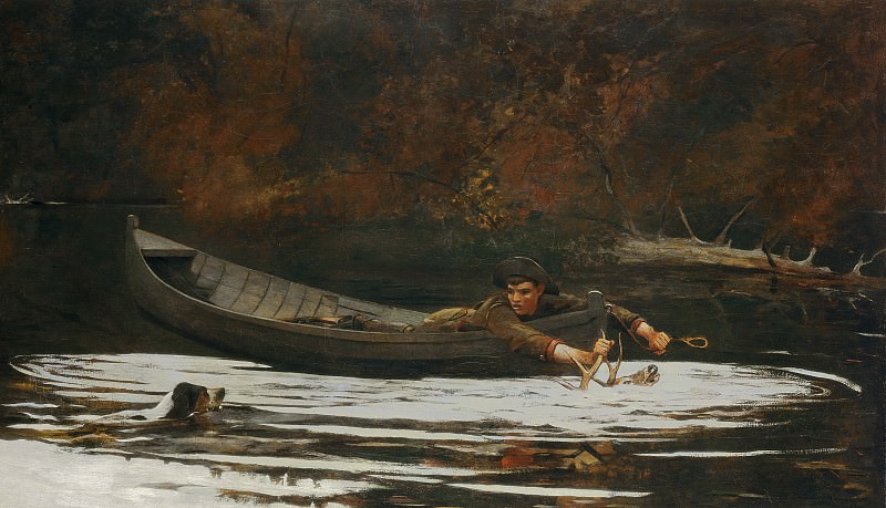 Winslow Homer - Hound and Hunter. National Gallery of Art (Washington)