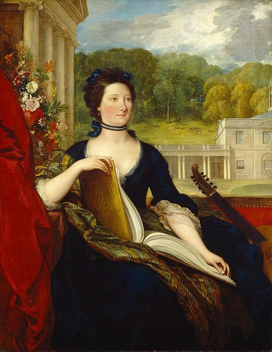 Benjamin West - Maria Hamilton Beckford (Mrs. William Beckford). National Gallery of Art (Washington)