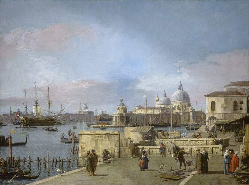 Canaletto - Entrance to the Grand Canal from the Molo, Venice. National Gallery of Art (Washington)