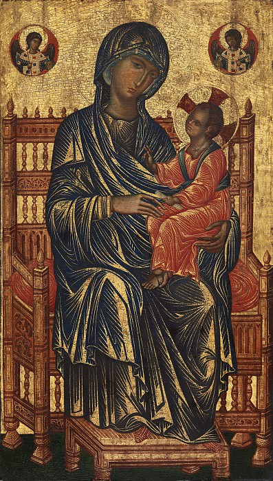 Byzantine 13th Century - Enthroned Madonna and Child. National Gallery of Art (Washington)