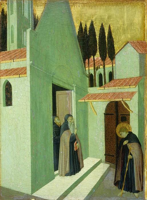 Master of the Osservanza (Sano di Pietro) - Saint Anthony Leaving His Monastery. National Gallery of Art (Washington)