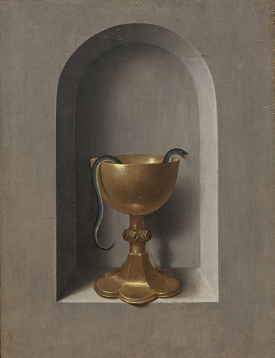 Hans Memling - Chalice of Saint John the Evangelist. National Gallery of Art (Washington) (reverse)